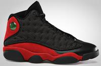 черные сетки кроссовки мужчины 13 оптовых-13s разводят мужские баскетбольные туфли кроссовки черный красный 3M сетки открытый спортивные тренеры для мужчин кожа 13