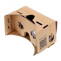 экран виртуальной реальности оптовых-Оптовая торговля-DIY Google Virtual Reality Box VR картон мобильный телефон 3D очки для просмотра на 5-дюймовый экран