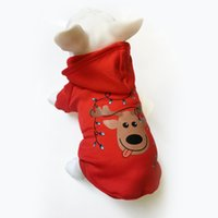 manteau de chien hiver achat en gros de-Chaud Chien D'hiver Chaud Pour Chien Chien Vêtements Pull Costume Manteau Costume Veste Teddy Manteau De Noël Rouge Luge Style S-XL