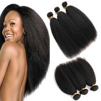 weave reto do cabelo humano do kinky afro venda por atacado-8A grau mong Mongol não transformados mongol Afro kinky cabelo humano em linha reta atacado mongol cabelo weave barato afro kinky cabelo encaracolado