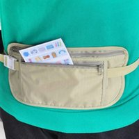 Wholesale Security Waist Pouch - Travel Casual Nylon Waist Pouch Bag Hidden Compact Security Waist Belt Passport Holder Pocket