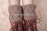 Wholesale Wool Knit Socks For Sale - Wholesale- 10pairs lot on sale women new leg warmers gaiters wool crochet boot cuffs boot socks knitted leg warmers for boots
