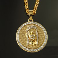 Hip Hop Big Lion Head Pendant Necklace Animal King Vintage Gold Color Hiphop Chain Para Homens / Mulheres Jóias Gift 162246