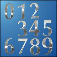letras modernas da casa venda por atacado-0-9 Números de Casa Moderna de Aço Inoxidável Número Dígitos Adesivo Placa de Sinal Tamanho 6.2 * 3.5 * 1.9 cm Porta Das Portas Número Da Porta Do Quarto Novo
