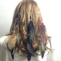 Wholesale Feather Hairpieces - Top Fashion Women Girl's Clip On in feather Hair Extension Hot for Party Brand New Hairpieces accessories with clips