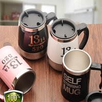 Wholesale Automatic Stirring Coffee Cup - Automatic Electric Stirring Coffee Mug, Double Layer Stainless Steel Self Stirring Coffee Mugs Self Mixing Cup