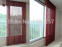 Wholesale Decorative Window Beads - beads solid color decorative string curtain 300cm*300cm black white beige classic line curtain window blind vanlance room divider