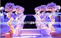 tabelas apenas venda por atacado-estande mental apenas) lasca alta e grande / decoração de mesa de ouro arranjos de flores artificiais em vasos