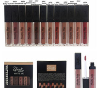 Wholesale Sleek Makeup Wholesalers - HOT new makeup sleek matte me waterproof long lasting matte liquid lipstick 12 color   box ! DHL Free shipping