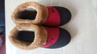 Wholesale Winter Snow Two color Stitching Shoes Womens Flats Indoor Shoes Furry Warm Home Cotton Soft Sole Shoes