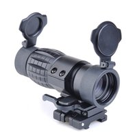Wholesale side mounted scope mount rail resale online - QD FTS X Magnifier Scope Optical airsoft Riflescope Fits Sight with Flip To Side Picatinny Weaver Rail Mount
