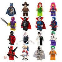 Wholesale Wholesale Christmas Toys For Kids - 16pcs lot Classic DC Super Heroes Building Blocks Bat Man Joke Joker Figures Block Toys For Children Kids Christmas Gifts Bricks