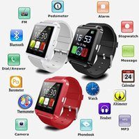 Wholesale Wrist Watch Altimeter Barometer - Hot Sale U8 Smart Watch Altimeter Barometer Clock Wrist Watches Passometer Smartwatch For iPhone 4 4S 5 5S 6 6plus 7 Android with Retail Box