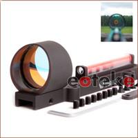 ponto vermelho de fibra óptica venda por atacado-.Lightweight vomz fibra óptica Fibra Verde Vermelho 1x28 de fibra Dot Sight Caça Tiro Scope Fit 11mm de montagem airsoft Shotguns Rib Trilho