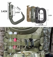 Atacado-Ultra-light Camping Bag Backpack Buckle Outdoor Hiking Locking Snap D-Ring Clip Shackle Carabiner Travel Kit Camping Equipment