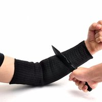 Wholesale Support Sleeves - Wholesale- 2Pcs Sport Safety Sleeve Kevlar Sleeve Arm Protection Wrist Sleeve Armband Anti Abrasion Anti-Cut Burn Arm Resistant Oversleeve