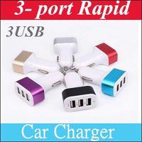 Wholesale Ipad Air Battery - Car Charger 3-port Rapid USB Car battery Chargers Cigarette Charger Adapter for Apple Iphone 6 6+ 6s 6s+ 5 5s 5c, Ipad Air, Ipad Mini B12
