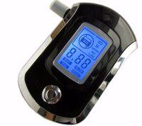 nefes alot test cihazı mini lcd toptan satış-2017 YENI Sıcak satış moda Profesyonel Mini araba Polis Dijital LCD Nefes Alkol Tester Breathalyzer AT6000