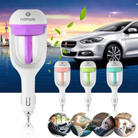 Wholesale Travel Air Humidifier - Mini Car Humidifier Air Freshener Aromatherapy Essential oil Diffuser Mist Air Purifier Freshener Travel Car Portable humidifier KKA1413
