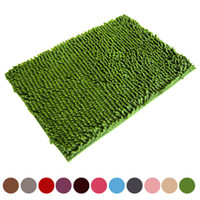 Wholesale Shaggy Bathroom Mats - Wholesale-Top Grand 2016 Soft Shaggy Non Slip Absorbent Bath Mat Bathroom Shower Rugs Carpet New Arrival Free Fast Shipping