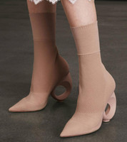 sandalias de gladiador de tacón medio al por mayor-2017 verano zapatos de vestir botas de legging mediados de botines de la pantorrilla punta del dedo del pie zapatos de fiesta grecaste talón gladiador sandalias botas damas