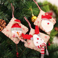 Wholesale Christmas Decoration Hanging Santa - Christmas Tree Decoration Craft Christmas Toys Hanging Tree Santa Claus Snowman Reindeer Pendant Navidad 2017 3 Pieces Lot