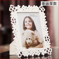 Wholesale Wholesale Baby Shower Frames - 2017 Baby Kids Photo Frame Plastic Picture Holder Home Decoration Bridal Wedding Favor Baby Shower Gifts