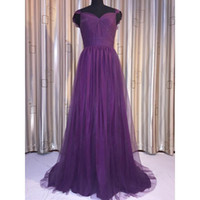 Wholesale Tulle Bridesmaid Gowns - 2017 Ghands A Cheap Chapel Train Elegant Sweetheart Capped Ball Gown Tulle\Lace Wedding Guest Plus Formal Gowns Bridesmaid Dress Custom Size