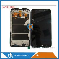 Wholesale Droid Capacitive - For Motorola Droid Ultra XT1080 For Moto XT1080 LCD Display+Touch Screen Digitizer+Frame Assembly