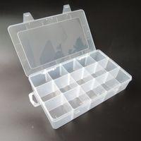 Wholesale Plastic Parts Storage Box - Wholesale-Transparent PP Tool Box Electronic Plastic Parts Toolbox Casket SMD SMT Container Screw Battery Component Storage Case