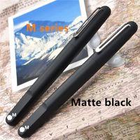 nueva pluma magnética al por mayor-Marca MB de edición limitada, nueva serie M, bolígrafo de resina negra mate con tapa magnética. Lápices de lujo para escribir con regalo