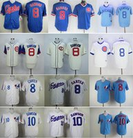 Wholesale Gary Mix - Throwback Chicago Cubs #8 Andre Dawson Jersey Blue White Cream Retro Montreal Expos 10 Andre Dawson 8 Gary Carter Baseball Jerseys Mix Order