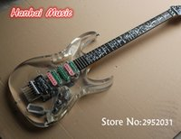 Wholesale Tree Life Guitar Inlay - wholesale Free Shipping-Electric Guitar,Acrylic Transparent Body,Colorful Pickups,Floyd Rose,Tree of Life Fret Marks Inlay,can be Custom