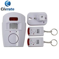 Wholesale Home Security System Motion Detector - IR Alarm systems Infrared sensor Security Detector Home System 2 Remote Control Wireless Motion Sensor Alarm Security Detector