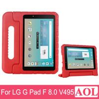 Wholesale Stand Hold Case - Portable Kids shockproof drop resistance EVA mount stand hand held cover case For LG G Pad F V495 V496 V498 8 inch Tablet