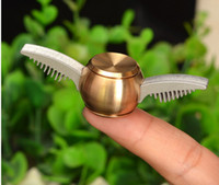 Latón Harry Potter Fidget Spinner de oro Snitch Cupid ala Metal Spinner R188 teniendo EDS Anti-stress Metal Spinners juguetes JC329