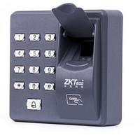 leitor de controle de acesso de impressão digital venda por atacado-Leitor biométrico autônomo do teclado da impressão digital para o controlo de acessos 125KHZ X6 do intercomunicador da fechadura da porta