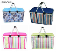 Wholesale Oxford Basket - Wholesale- 1680D Oxford neveras portatiles High quality camping picnic bag set Waterproof picnic basket Insulated lunch cooler box