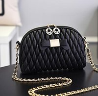 Wholesale Wild Fashion Bags - New Cosmetic Mini Women Makeup bag Wild Messenger bag shoulder bag fashion soft handbag