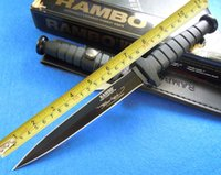 Wholesale Daggers Knifes - Rambo4 dagger boots hunting knife Outdoor camping knives