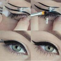 Wholesale eyeliner template makeup tools for sale - Styles Beauty Cat Eyeliner Models Smokey Eye Stencil Template Shaper Eyeliner Makeup Tool