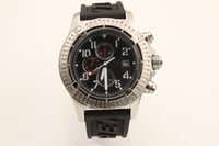 Wholesale mechanical chronograph skeleton watch - Luxury Brand Top Quality Chronograph Men's Watch Black Rubber Belt Silver Skeleton Dark Black Dial White Pointer men watches