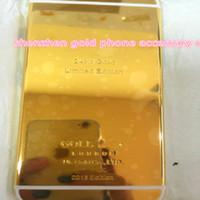 ingrosso alloggiamenti adesivi-Custodia posteriore in metallo pieno di alta qualità con custodia in metallo duro 8mu 24K Gold per Apple per iPhone 6 per iphone6s plus Repalcement