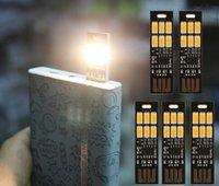 1w 5v led toptan satış-Toptan Satış - Mini USB Güç 6 LED Lamba 1W Güç Banka Bilgisayar Laptop için 5V Dokunmatik Dimmer Sıcak Işık