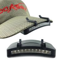 parlak şapka ışıkları toptan satış-11 LED Far Far El Feneri Kap Şapka Torch Başkanı Işık Lambası-Açık Balıkçılık Kamp Avcılık Klip-On Işıkları Süper Parlak