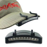 lumières de chapeau lumineux achat en gros de-11 LED phare phare lampe de poche lampe de poche chapeau chapeau lampe torche lampe de tête - pêche en plein air camping chasse chasse-lumières sur pince super lumineux