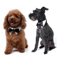 Wholesale Large Dog Bowtie - Pet Supplies Dog Tie Wedding Accessories Pet Bow Tie Dog Cat Bowtie Formal Pet Necktie Adjustable Collar Party Necktie G485