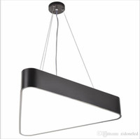 Wholesale Triangle Pendant Lighting - Modern Lustre Luminaire Triangle Led Pendant Light Office Pendant Lamp Indoor Lighting Fixture Lampadas Suspension Lamp