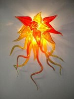 Fancy Orange Color Flush Wall Mounted Blown Glass Handmade Wall Lamp Lâmpadas LED Art Wall Sconces