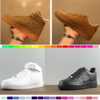 Wholesale 36 D - 2017 New forces Classical All White black high cut men & women Sports sneakers Running Shoes Forceing one skate Shoes size 36-46